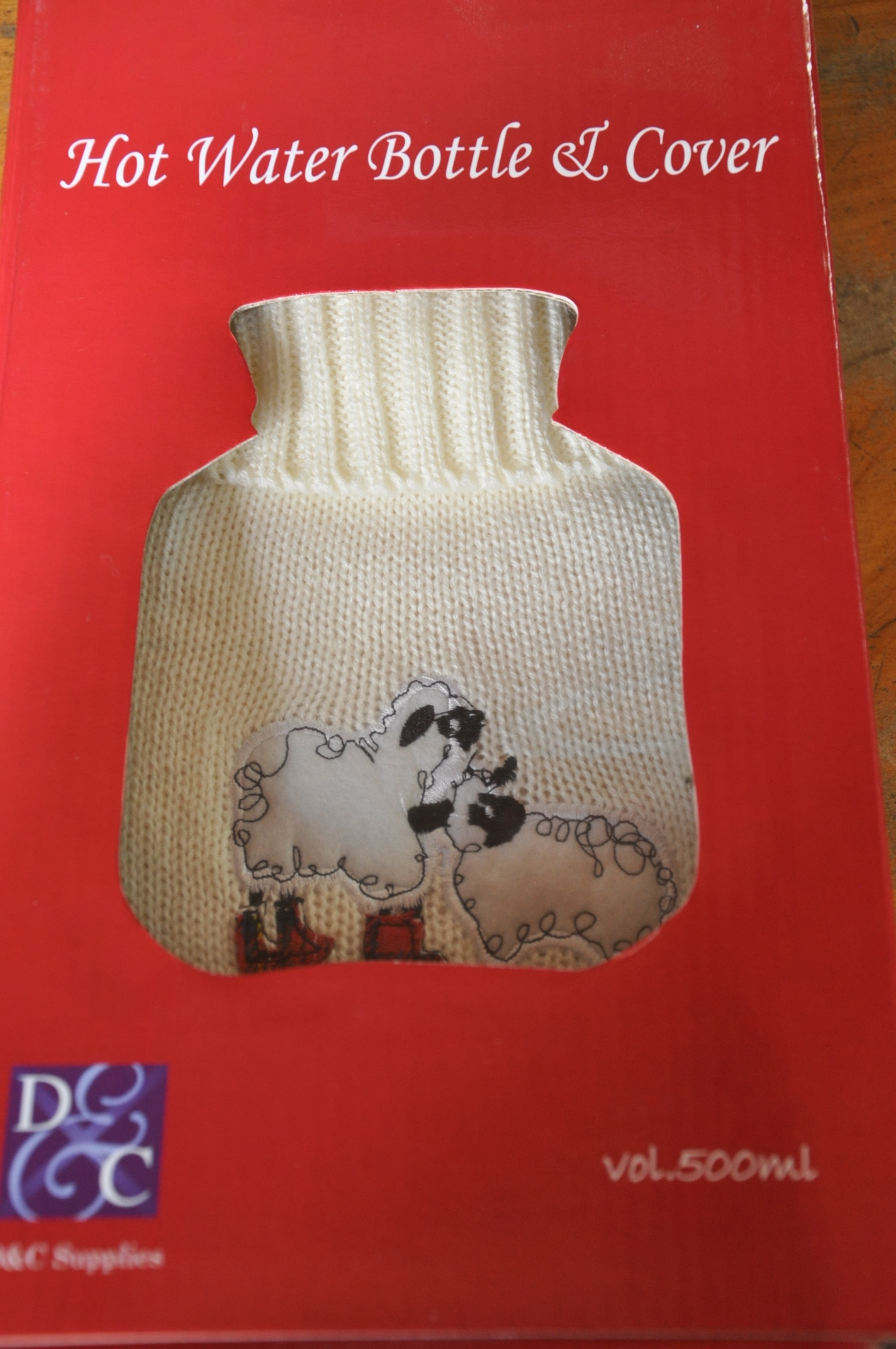 Hotwater Bottle Cover Sheep