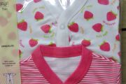 Strawberry Sleepsuits (Twin Pack)