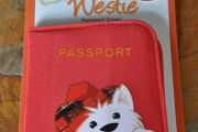 West Highland Terrier Passport Cover